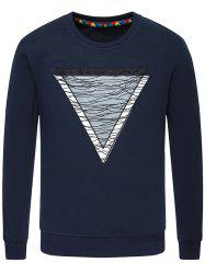 Inverted Triangle Crew Neck Sweatshirt