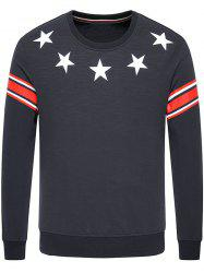Star Printed Long Sleeve Crew Neck Sweatshirt
