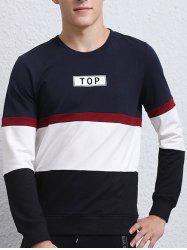 Stripe Insert Long Sleeve Crew Neck Sweatshirt