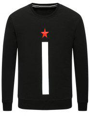 Long Sleeve 3D Star Printed Sweatshirt