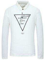 Long Sleeve Button Up Graphic Polo Shirt -
