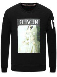 Graphic Print Long Sleeve Crew Neck Sweatshirt -