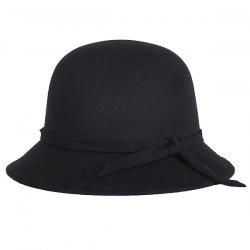 Winter Long Band Faux Wool Fedora Hat
