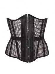 Hook Up Cut Out Corset With Panties - BLACK