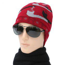 Color Block Smoking Pipe Toboggan Hat