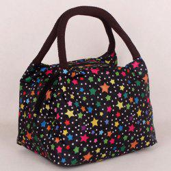 Color Spliced Star Pattern Nylon Tote Bag -