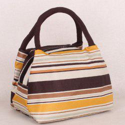 Nylon Striped Pattern Color Block Tote Bag -