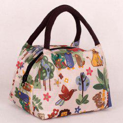 Couleur Spliced ​​animal Prints Nylon Tote Bag - Blanc Cassé