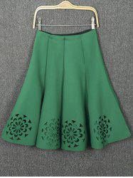 Openwork High Waist Pleated Skirt