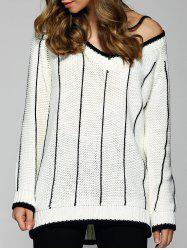 Loose Striped Pullover Sweater