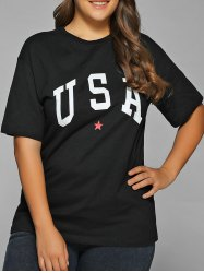 Star USA Print T-Shirt