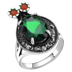 Cartoon Insect Faux Gem Ring -