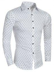 Plane Pattern Turn-Down Collar Shirt