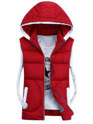 Hooded Thicken Zip-Up Down Waistcoat -