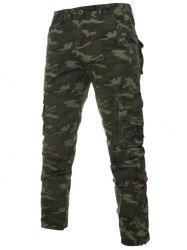 Camouflage Zipper Fly Pockets Cargo Bdu Pants