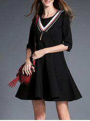 3/4 Sleeve Mini Flare Dress
