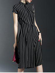 Pockets Vertical Striped Jumpsuit -