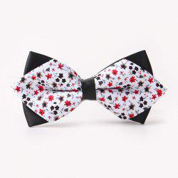 Banquet Tiny Flower Sharp-Angled Double-Deck Bow Tie -