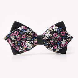 Banquet Full Flowers Sharp-Angled Double-Deck Bow Tie