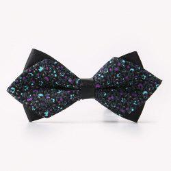 Banquet Flowers Rattan Sharp-Angled Double-Deck Bow Tie -