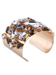Curved Artificial Gem Cuff Bracelet