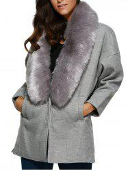 Warm Big Pocket Faux Fur Cocoon Coat