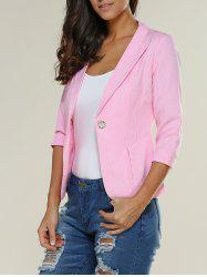 3/4 Sleeve One Button Slimming Blazer
