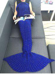 Portable Acrylic Knitting Mermaid Tail Sofa Blanket -