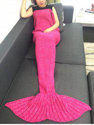 Warmth Crochet Knitted Mermaid Tail Blanket -