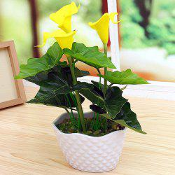 PU réel tactile Calla fleur artificielle Bonsai -