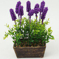 Lavender Potted Bonsai Decoration Artificial Flower