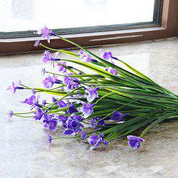 Simulation Butterfly Orchid Decoraton Artificial Flower - PURPLE