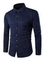 Slim-Fit All-Over Small Print Thermal Shirt -