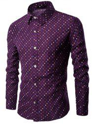 Small Geometric Print Long Sleeve Shirt
