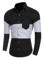 Slim-Fit Color Block Shirt -