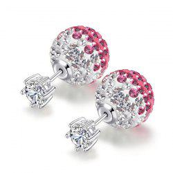 Double Side Rhinestone Ball Earrings