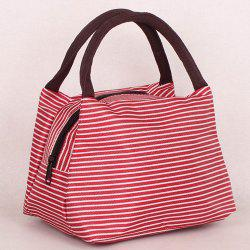 Nylon Pinstripe Color Splicing Tote Bag