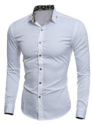Slim Long Sleeve Metal Embellished Shirt