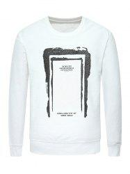 Crew Neck Graphic Print Sweatshirt