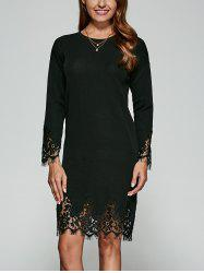 Guipure Lace Knitted Dress -
