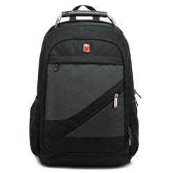Metallic Nylon Zippers Backpack -