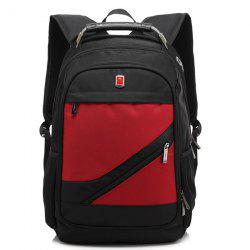 Metallic Nylon Zippers Backpack - Rouge