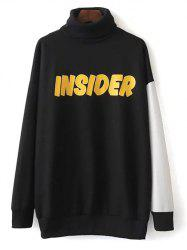 Turtleneck Oversized Graphic Sweatshirt