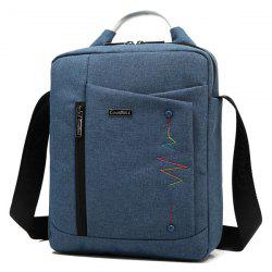 Stitching Bead Zippers Crossbody Bag - PURPLISH BLUE