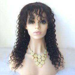 Side Parting Long Curly Lace Front Human Hair Wig