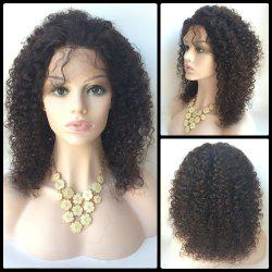 Middle Shaggy Curly Lace Front Human Hair Wig