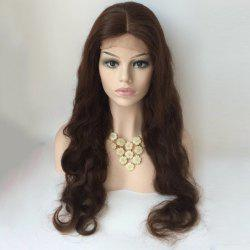 Long Centre Parting Body Wave Lace Front Human Hair Wig -