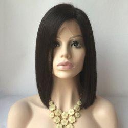 Medium Side Parting Straight Bob Lace Front Human Hair Wig