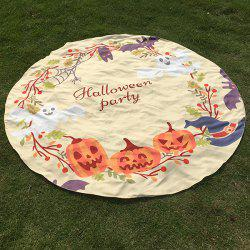 Festival Halloween Carnival Ghost Pumpkin Pattern Round Beach Throw