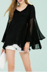 Manches cloche Bottom See Through Blouse -